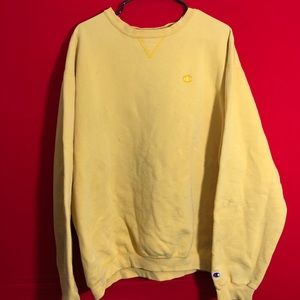 Vintage yellow champion sweatshirt